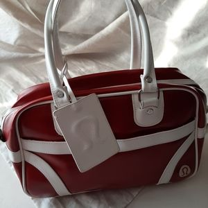 Lululemon vintage red white/bag